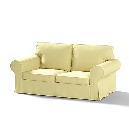 FRANC-TEXTIL 611-702-11 Ektorp 2-Sitzer Sofabezug non richiudibile, cotone di Panama, limone