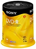 Sony DVD-R 16x Recordable DVD (4.7GB) - 100 Disc Spindle