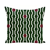 E By Design PHGN277GR8RE4-16 Nuts & Bolts Decorative Holiday Geometric Print Pillow, 16