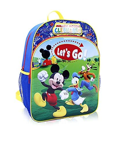 Disney Kid's Mickey Mouse with Front Pocket 16-Inch Backpack, Blue