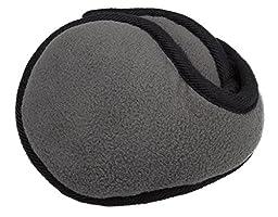 Metog Unisex Foldable Polar Fleece Warm Winter Outdoor EarMuffs Gray
