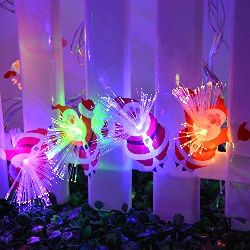 Fiber Optic Blossom Led String Lights Plug In Multi Color : lederTEK Santa Claus Pendant Fiber Optic String Lights 60 LED 32ft Fairy Christmas Lighting ...