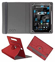 Acm Designer Rotating Leather Flip Case For Ice Spectra Beat Tablet Cover Stand Peach