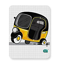 PosterGuy Mouse Pad - Auto Rickshaw in pot Hole | Typical Mumbai | Designed by: Being Indian