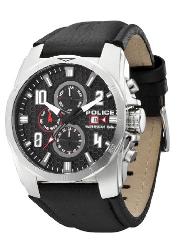 Police Men's Cluster Watch 12900JS/02 with Black Strap