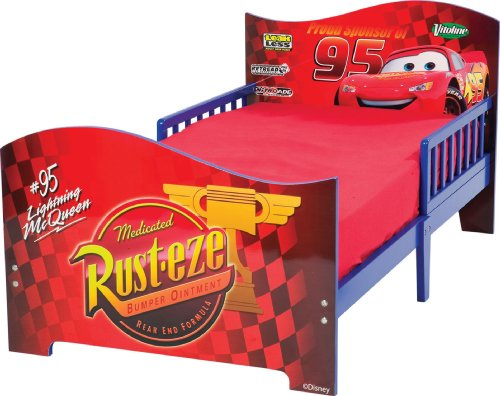 Disney Pixar Cars Wooden Toddler Bed with Safe Sleep Rails
