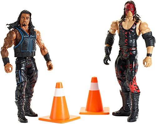 WWE Battle Pack Series #35: Kane and Roman Reigns Figures (2-Pack) (Wwe Action Figures Kane compare prices)