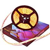 ぶーぶーマテリアル LEDテープ アンバー 600連 高輝度 5m 橙 アンバー 12V 白ベース 防水 イルミネーション 電装品 【カーパーツ】