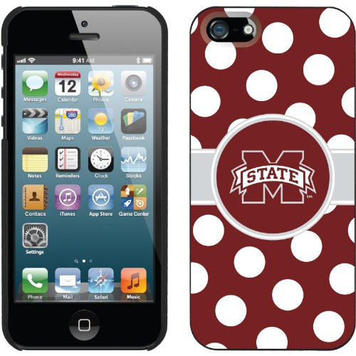 Best Price Mississippi State - Polka Dots design on a Black iPhone 5s / 5 Thinshield Snap-On Case by Coveroo