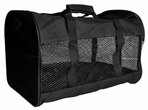 Kenox Soft-Sided Pet Travel Carrier for Dogs, Cats (Medium, Black)