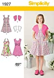 Simplicity Pattern 1927 Girl's Dresses Size, 7-8-10-12-14-16
