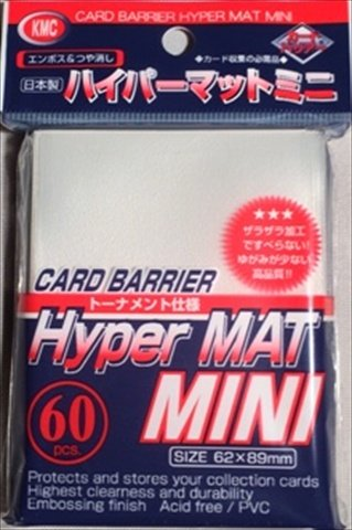 KMC Sleeves MHM1577 Deck Protectors Mini Hyper Clear, Pack - 60