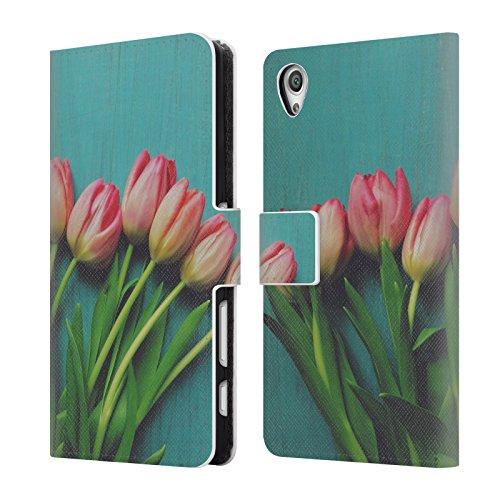 offizielle-olivia-joy-stclaire-rosa-tulpen-auf-dem-tisch-brieftasche-handyhulle-aus-leder-fur-sony-x