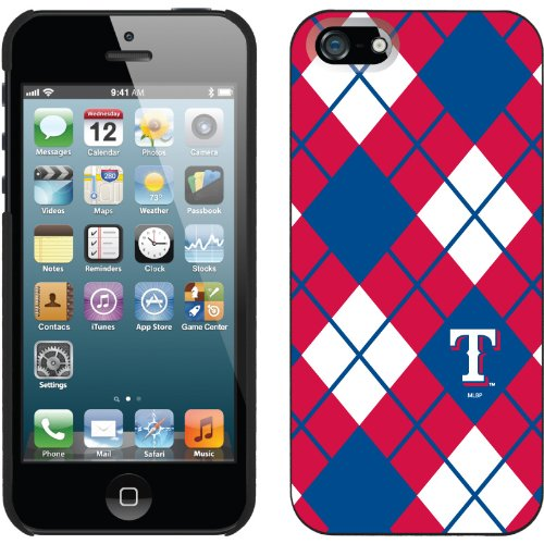 Great Sale Texas Rangers - Argyle design on a Black iPhone 5s / 5 Thinshield Snap-On Case by Coveroo