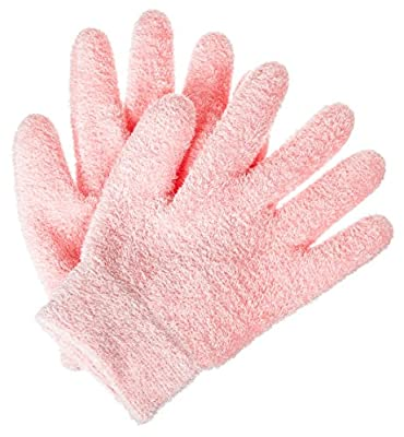 Deseau Moisturizing Gloves - Luxurious Soft Cotton with Thermoplastic Gel Lining Infused with Botanical Oils - One Pair