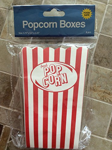 Olde Time Popcorn Boxes - Set of 8
