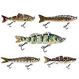 Decoy Set de 5 leurres Appat de peche aux leurres Spinner Jerkbait optimale pour les poissons predateurs pour le brochet Wells la morue fileur Sandre