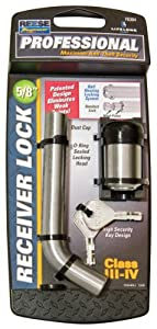 """Reese Towpower 7030400 Professional 5/8"""" Chrome Bent Pin Style Receiver Lock"""