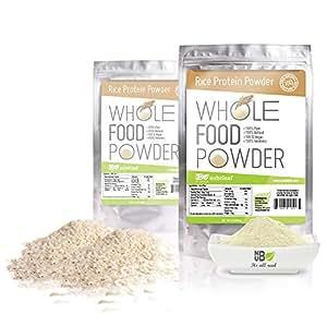 Amazon.com: Brown Rice Protein Powder 80% Protein 1lb Bulk