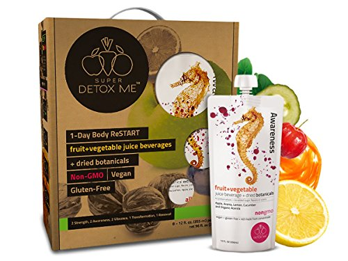 SUPER DETOX ME 3-Day Body ReSTART Juice Cleanse, Core Cleanse, 24 Juices (Set of 3) (Raw Pressed Juice compare prices)