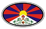 Tibet Flag Car Bumper Sticker Decal Oval