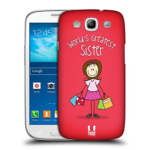 Head Case Designs Sis World's Greatest Family Protective Snap-on Hard Back Case Cover for Samsung Galaxy S3 III I9300