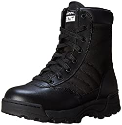 Women\'s Classic 9 Inch Side Zip Tactical Boot, Black, 7 B US