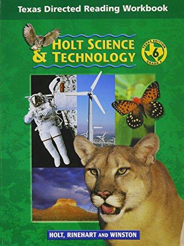 Holt Science & Technology Texas: Dir Reading Workbook Grade 6 Earth Science
