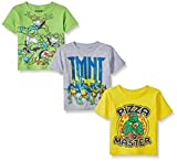 Teenage Mutant Ninja Turtles Toddler Boys' Value Pack Tee Shirts, Assorted Colors, 2T