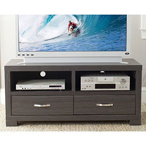 "Monroe 47"" TV Stand Finish: Dark Grey / Charcoal / Woodgrain"