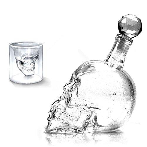 73ml-und-1000ml-Kristallschdel-Kopf-Wodka-Schuss-Trinken-Ware-Glastasse-fr-Zuhause-bar