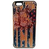 Peint secours Statue de la Liberté Imprimer bambou naturel + pc téléphone portable Coque Skins couverture pour iPhone6 4,7 pouces...