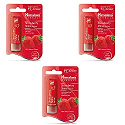 Himalaya Herbals Lip Care, Strawberry Shine, 4.5g (Pack of 3)