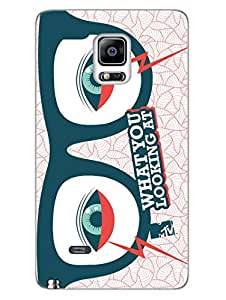 Samsung Note 4 Edge Cases & Covers - MTV Gone Case - What You Looking At - Cosmos - Designer Printed Hard Shell Case