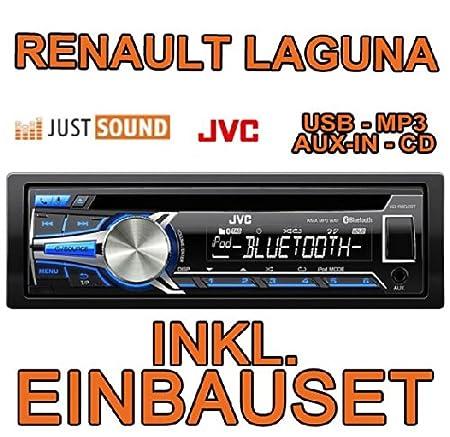 Renault laguna 1 &2 jVC-kD-r852BT cD/mP3/uSB avec kit de montage