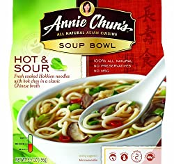 Annie Chun's Hot and Sour Soup Noodle Bowl, 5.5-Ounce Bowls (Pack of 6)