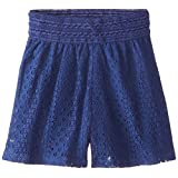 Speechless Big Girls' Solid Lace Neon Shorts