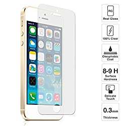 AA19 Tempered Glass for Apple Iphone 5 5S 5SE 0.3mm Pro+ Tempered Glass Screen Protector comes with Alcohol wet cloth pad & clean micro fibre Dry cloth For Apple Iphone 5 5S 5SE