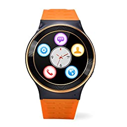 ZGPAX S99 Android V5.1 1.3 Inch MTK6580M Smart Watch Phone Support Gsm Sim-card With Camera, Bt Sync With All Android Cellphone(Orange)
