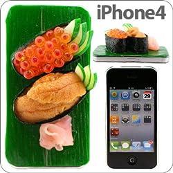 iPhone 4専用★愛飯iFanお寿司カバー(ウニ、イクラ)【ケース カバー】【食品サンプル 寿司 鮨 スシ すし】