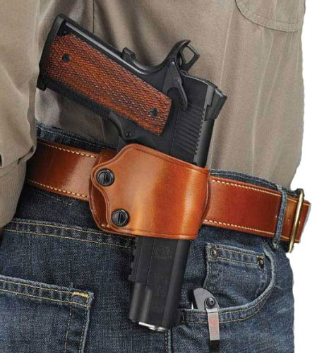 Galco Yaqui Slide Belt Holster for 1911 3-Inch-5-Inch Colt, Kimber, Para, Springfield, Kahr, Walther P22 (Tan, Right-hand) (1911 Belt Slide Holster compare prices)