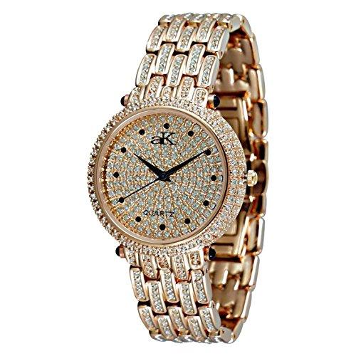 Adee Kaye Prima Donna AK9-67LRG 45.5x35.8mm Ceramic Case Rose Gold Ceramic Mineral Women's Watch