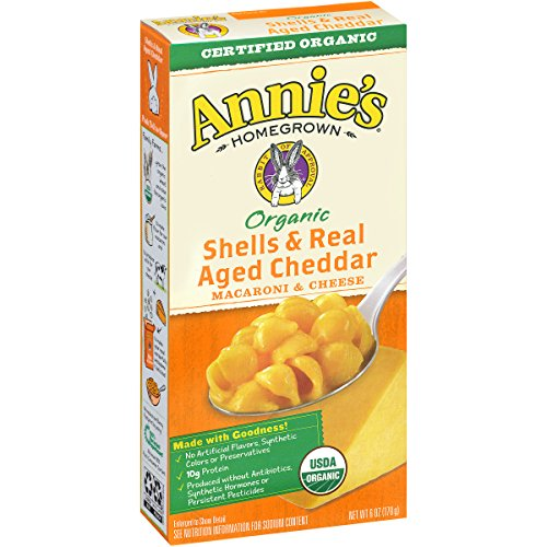 Annie's Organic Shells & Real Aged Cheddar Macaroni & Cheese 6 oz. Box (Pack of 12) (Box Mac And Cheese compare prices)