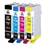 ヒューレットパッカード HP178 CR281AA 4色セット対応 ジットリサイクルインク JIT-NH1784P 日本製