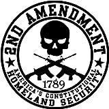 2nd Amendment Homeland Security; Round Bumper Sticker