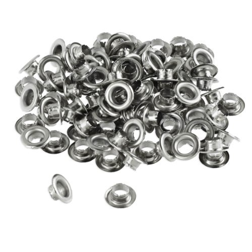 100pc 1/4″ Grommets Eyelets for Clothes, Leather, Canvas – Self-Backing