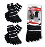 Yoga Full Toe Socks (Various Colors), 2 Pairs Value Pack Set