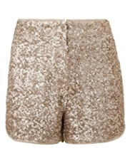 Angel Sequin Embellished Shorts
