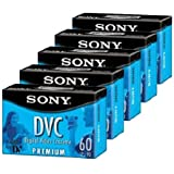 Sony DVM60PRL Premium MiniDV 60min Data Tape Cartridge 5 Packs
