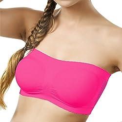 BYC TB-1003 Dark Pink Non-Padded Tube Bra for Girl's & Women-28